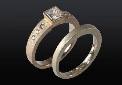 Handemade wedding rings